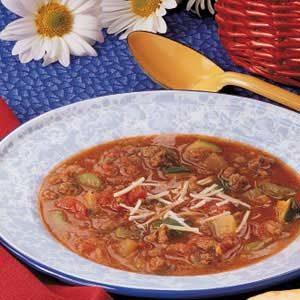 Beef Zucchini Soup