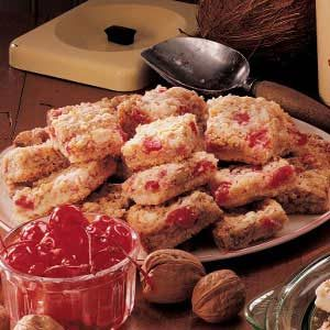 Cherry Coconut Bars Recipe