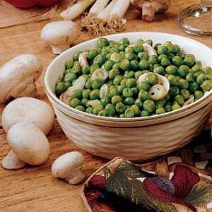 Peas with Mushrooms Recipe