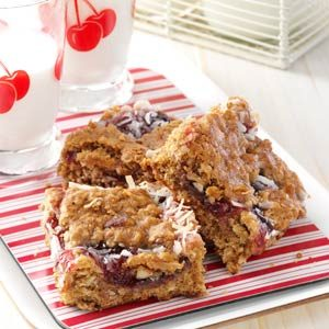 Cherry Oat Bars Recipe