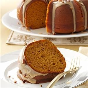 Pumpkin Spice Cake with Maple Glaze Recipe