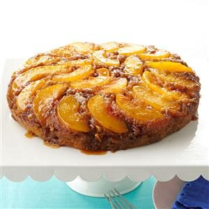 Peach Praline Upside-Down Cake Recipe