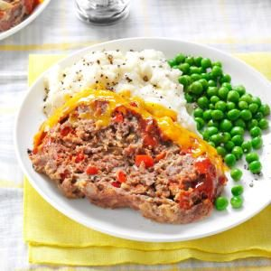Cheddar-Topped Barbecue Meat Loaf Recipe