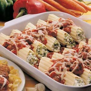 Sausage Broccoli Manicotti Recipe