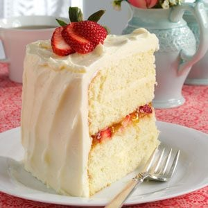 Coconut And Strawberry Jam Cake