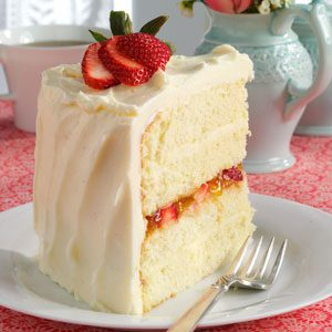 Vanilla Bean Cake with White Chocolate Ganache