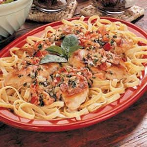 Chicken with Fettuccine Recipe