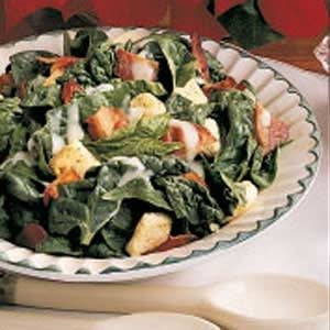 Warm Bacon Spinach Salad Recipe