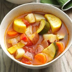 Garden Vegetable & Herb Soup Recipe