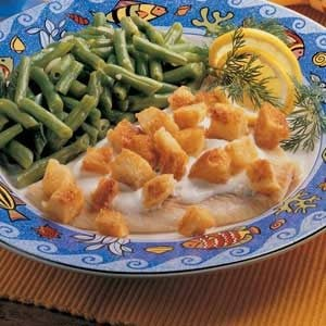 Fish with Cream Sauce Recipe