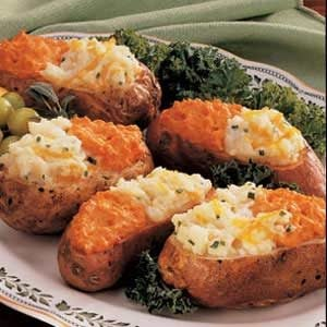 Two-Tone Baked Potatoes Recipe