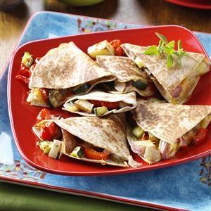 Roasted Veggie Quesadillas Recipe