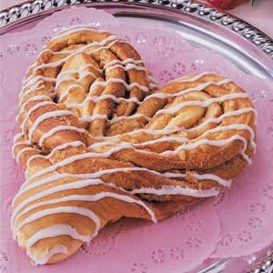 Heart-Shaped Cinnamon Coffee Cake