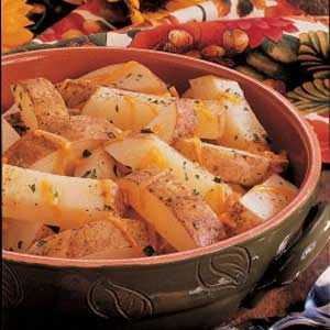 Cheddar Potato Strips Recipe