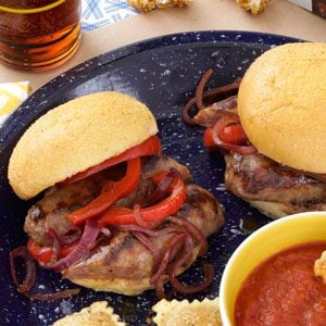 All-American Sausage and Pepper Sliders Recipe