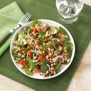 Black-Eyed Pea Spinach Salad Recipe