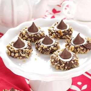 Chocolate Thumbprints Cookies