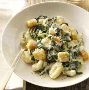 Ricotta Gnocchi with Spinach & Gorgonzola Recipe