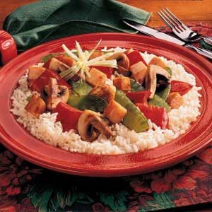 Mushroom and Turkey Stir-Fry Recipe