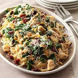 Angel Hair with Chicken & Cherries