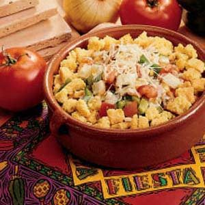Festive Corn Bread Salad Recipe
