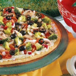 Festive Veggie Pizza Recipe