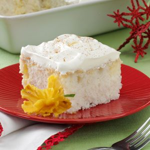 Eggnog Tres Leches Cake Recipe photo by Taste of Home