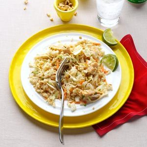 Chicken & Rice Salad with Peanut Sauce Recipe