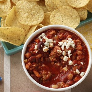Buffalo-Style Chicken Chili Dip Recipe