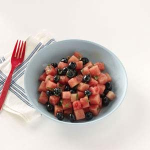 Watermelon-Blueberry Salad Recipe