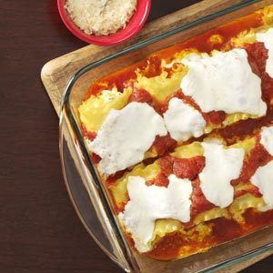 Creamy Chicken Lasagna Roll-Ups Recipe