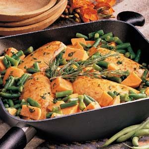 Golden Chicken and Autumn Vegetables Recipe