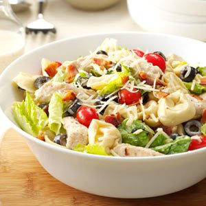 Tortellini & Chicken Caesar Salad Recipe