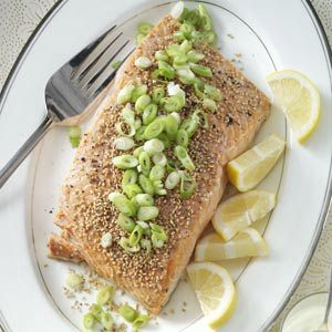Sesame Salmon with Wasabi Mayo Recipe