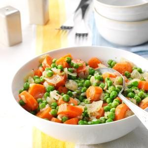 Honey-Butter Peas and Carrots