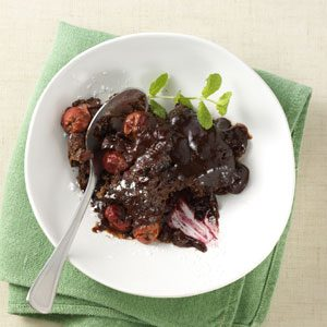 Chocolate-Covered Cherry Pudding Cake Recipe
