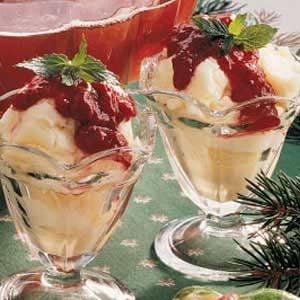 Raspberry Sundaes Recipe
