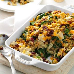 Turkey & Spinach Stuffing Casserole Recipe