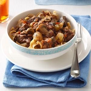 Slow Cooker Beef Bourguignonne