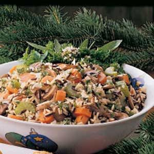 Vegetable Wild Rice Stuffing Recipe