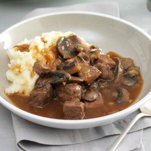 Beef  Mushroom Braised Stew Recipe Taste of Home