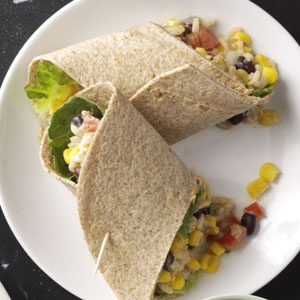 Easy Southwestern Veggie Wraps Recipe