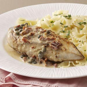 Chicken with Garlic-Caper Sauce Recipe