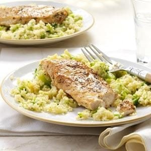 Balsamic Chicken with Broccoli Couscous Recipe
