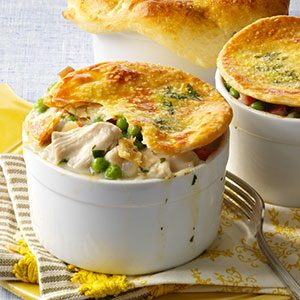 Savory Turkey Potpies Recipe
