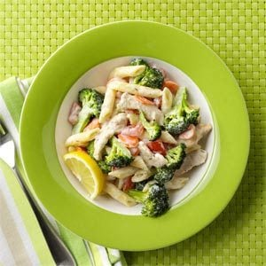 Turkey Penne with Lemon Cream Sauce Recipe
