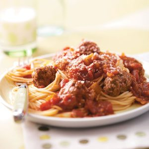 Slow-Cooked Spaghetti and Meatballs