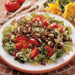 Spicy Ground Beef Salad Recipe