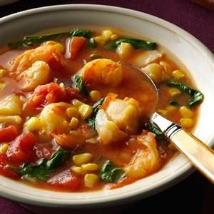 Shrimp & Cod Stew in Tomato-Saffron Broth Recipe