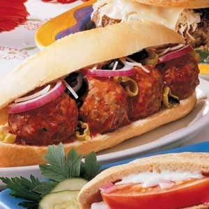 Peppy Meatball Subs Recipe